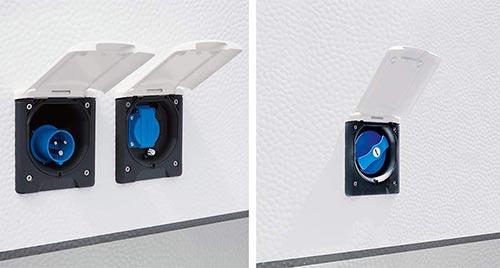Zunanji priključki za elektriko, tv in vodo
