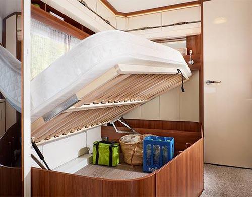 Sistem za enostavno shranjevanje pod posteljo