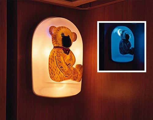 Otrokom prijazne luči v obliki medvedka