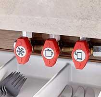 Osrednji plinski razdelilnik v kuhinji