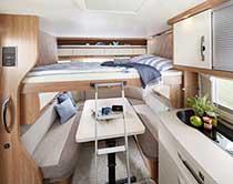Prilagodljiva postelja pod stropom