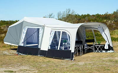 sotorska prikolica camp let dream tenda living plus sand odprta t